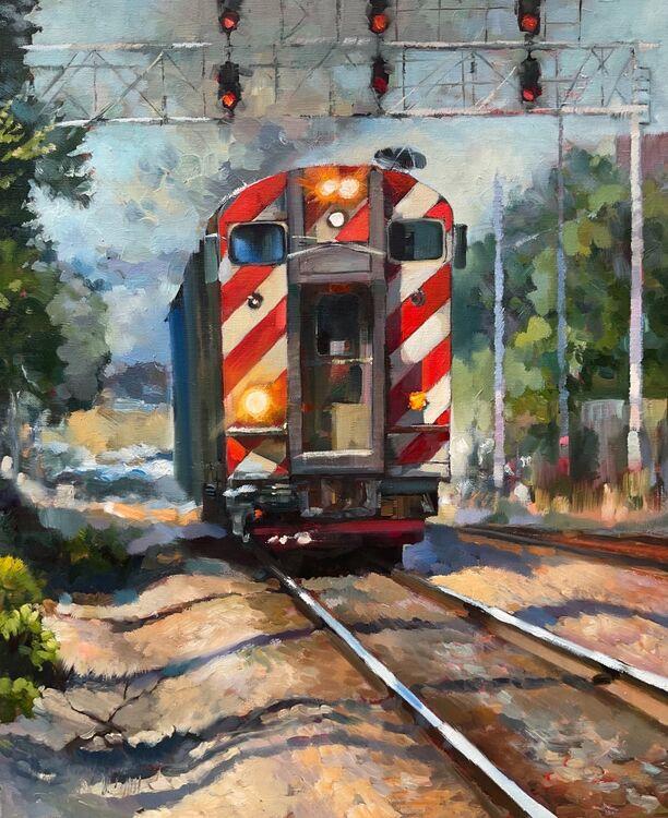 METRA Chicago train