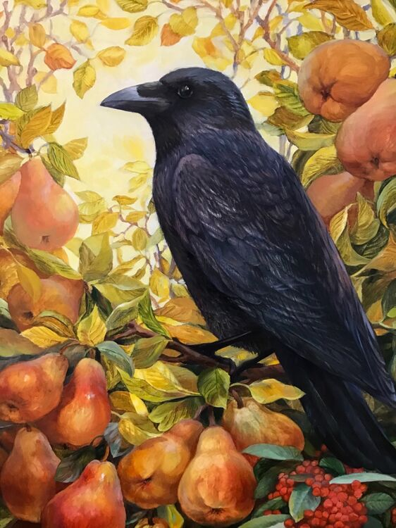 Crow with Pears
