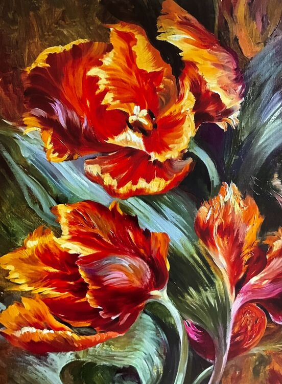 Flaming Tulips print 40x30 cm £30