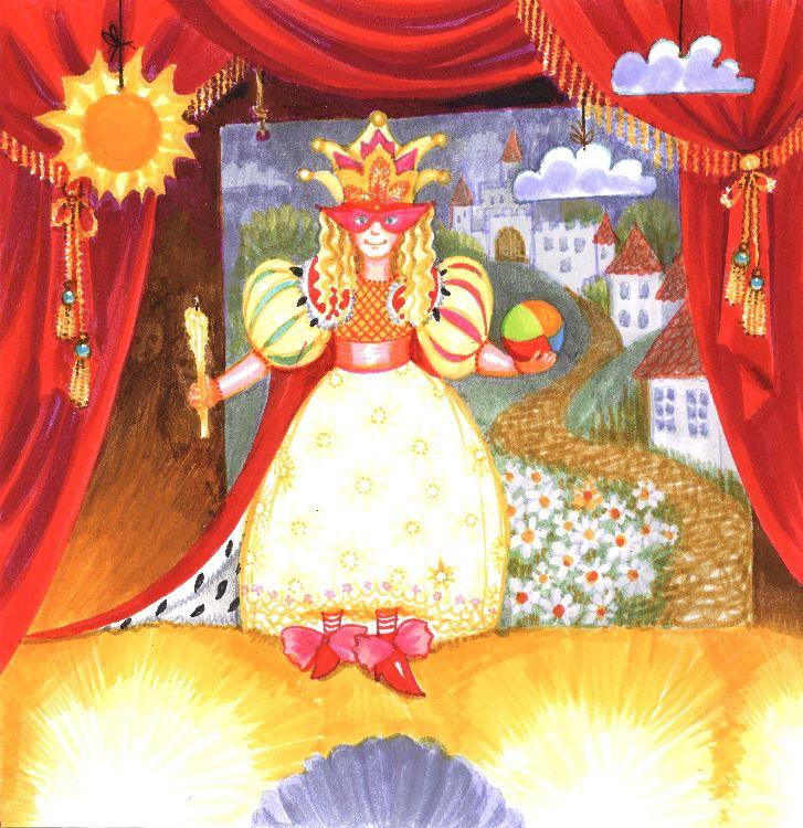 Princess on a stage