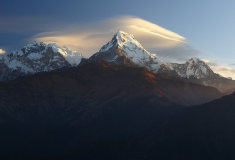 Annapurna Dakshin or Moditse (Annapurna South), Annapurna Mountains, Nepal