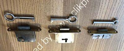 All three lock types take different keys shown below