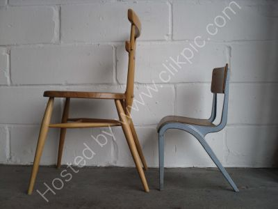 £25 plus £12 postage. James Leonard Children's Chair, shown next to adult table height Ercol chair.
