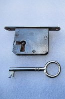£19  including p+p.Staples Ladderax key (only) to fit lock with left of centre key hole position. Please click on image for more information or to buy.