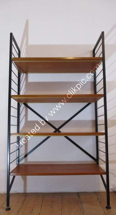 £300 Ladderax bookcase, restored ladders, braces and support straps. Please click on image for more details.