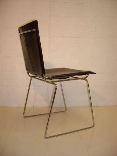 £180 each. Superb Quality Leather Slide Chair,  four available.Please click on image for more information.