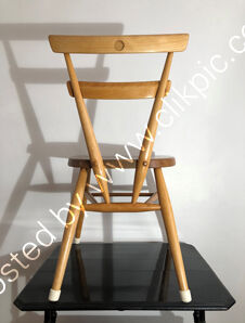 Now reserved. £110. Ercol blue dot stacking chair, restored. Please click on image for more information.