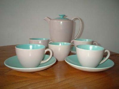 Poole Pottery Coffee Set, £55