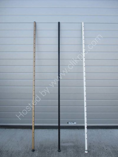 £45 each. Ladderax corner pole tallest 200.7 cm. Please click on image for details.