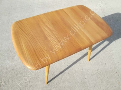 £230. Ercol model 213 coffee table. Stripped sanded and re-lacquered, please click on image information.
