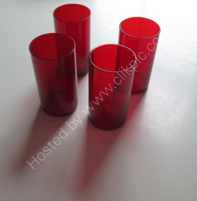 £8 plus £4 postage. Set of 4 x vintage ruby red glasses. Click on image for more information or to buy.