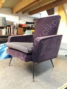 £650. 1950's French Atomic Style Armchair- click on image for more information.