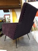 £650. 1950's French Atomic Style Armchair. New upholstery.