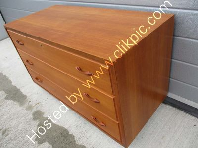 Now sold. Large width three drawer cabinet. Please click on image for more information.