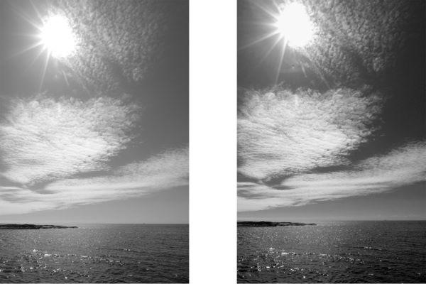 Fototips A - 15 - Filter - Sammenligning, rødfilter