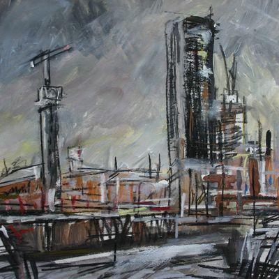 Grey Sky, Cranes