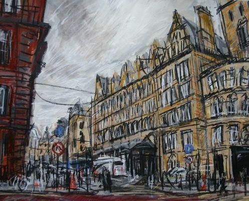 Outside Central Station, Glasgow