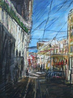 Road in shade, Lisbon