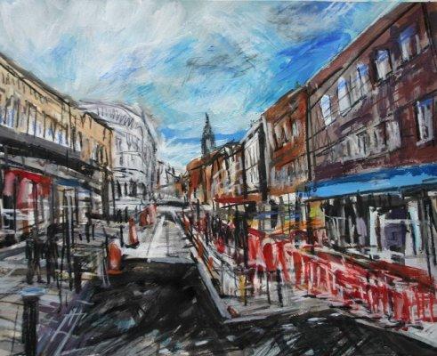 Roadworks Knowsley Street, Bolton