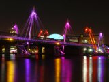 Jubilee Bridges at Night