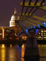 St Paul's and Millennium Blue