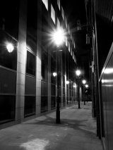 City Lamposts at Midnight