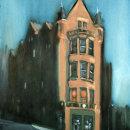 Glasgow High Street, evening and moonlight.