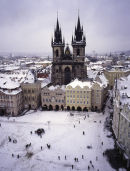 Old town square, winter