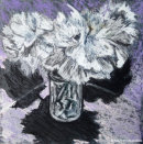 FLOWERS IN A VASEPastel on Mountboard21.5x21.5cms
