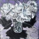 FLOWERS IN A VASEPastel on Mountboard21.5x21.5cms