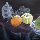 SQUASH, MELON AND OTHER THINGSAcrylic on Linen40x40cms