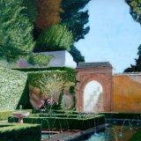 "Generalife, Alhambra, Granada, Spain. oil on canvas, 20""x16"" (SOLD)"