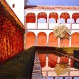 "Generalife, Alhambra, Granada   oil on canvas  30""x30"""