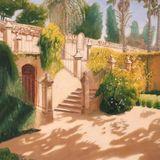 "Jardin de la Danza, Alcazar, Seville, oil on canvas, 20""x30"""