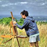 capturing the view from Epsom Downs towards London