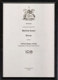 ICE South Maritime Award Winner 2007