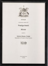 ICE South Prestige Award Winner 2007