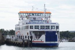 Wightlink's ferry 'Wight Light' berthed in Yarmouth (Photo courtesy of Wightlink)