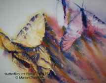 Butterflies are Flying, watercolour