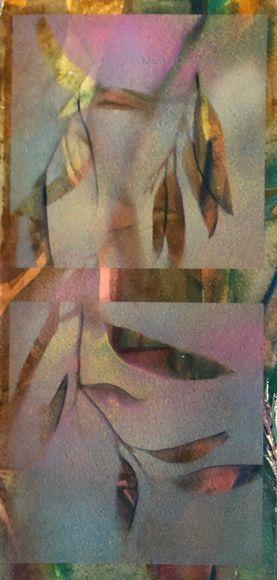 Gum leaves, Positives & Negatives 3 Dyptich