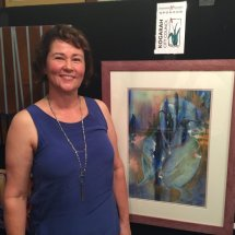 Marion Chapman exhibiting at St George Art Society