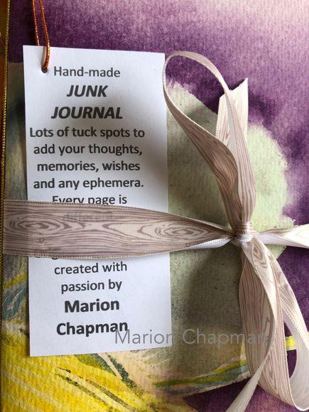Junk journal - purple & yellow