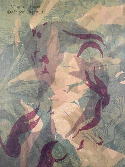 Spring Magenta Woodcut