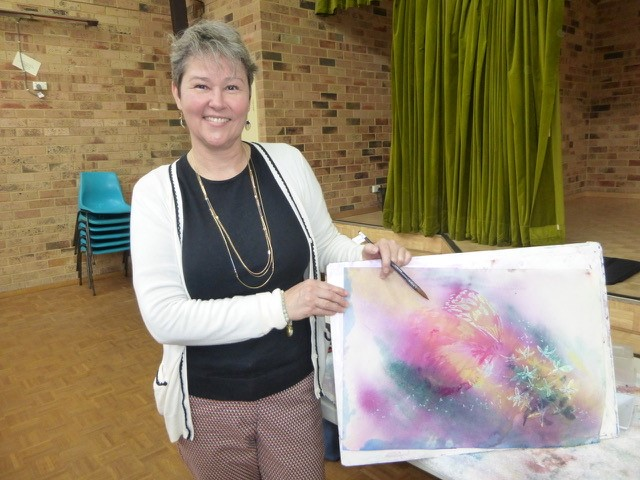 Marion Chapman Watercolour demonstration Sutherland Shire Art Society