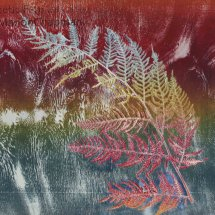Phonetic Fern, woodcut and stencil