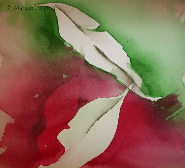 Gum Leaves, Red & Green compliments