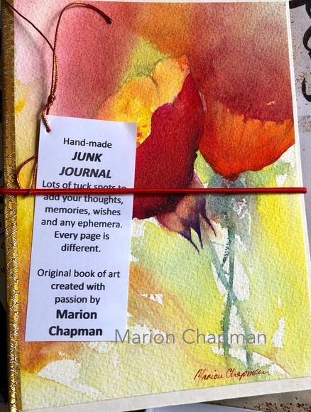 Hand-made junk journal - poppies