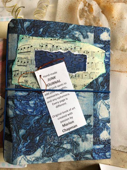 Junk journal - music (blue)