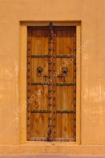 Indian door study in puce