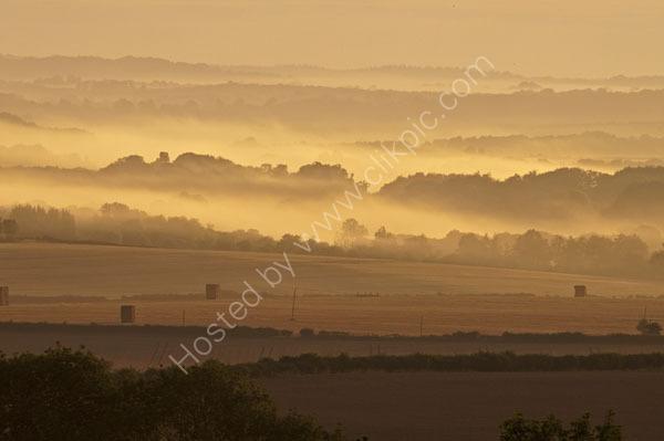 misty haystack dawn